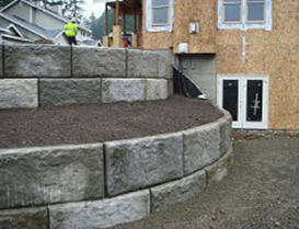 residential retaining wall construction