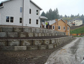 residential side retaining wall